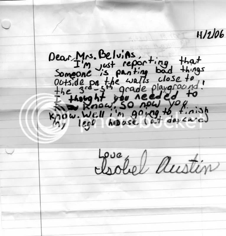 Dear Mrs. Blevins