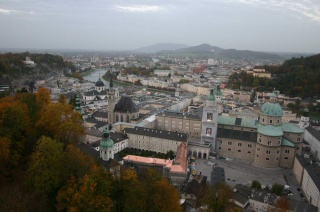Salzburgul văzut din castel