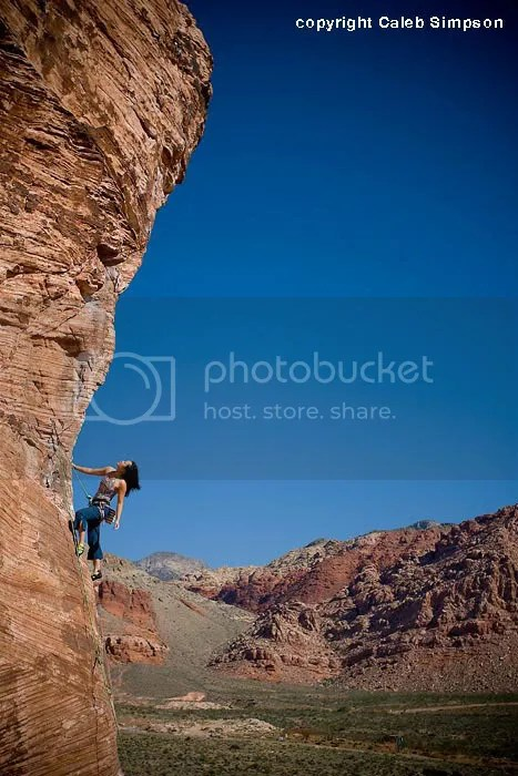 Climbing at Red Rocks, NV