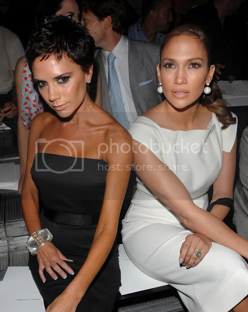 Victoria Beckham in the Pixie/Pop with Jennifer Lopez