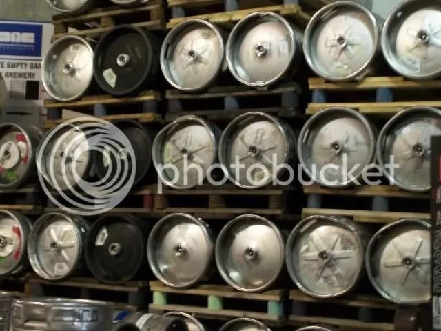 Kegs of beer ready to go!!