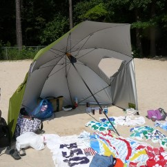 Super Brella Chair Nichols And Stone Value Is It A Beach Umbrella Sun Tent S The Sport So What You Know How Not Really Stable They Tend To Fly Off With Ocean Breeze Those Tents Work