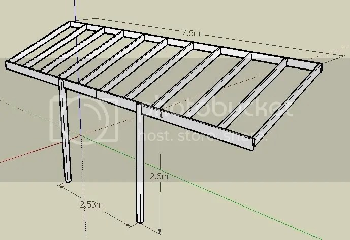 Pergola Beams Amp Rafters Please Help With Spans Amp Sizes