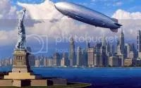 Hindenburg Zeppilin Over N.Y.C