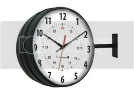 Black Hanging Clock IW-1