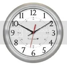 Brushed Aluminum Clock IW-1