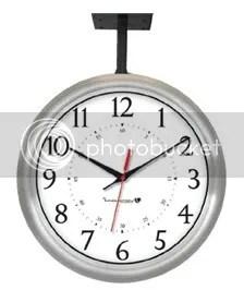 Hanging Brushed Aluminuim Clock IW-1