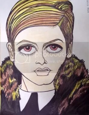 sketch book - twiggy
