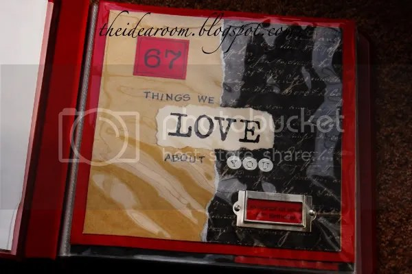 Things We Love About You Scrapbooks  The Idea Room