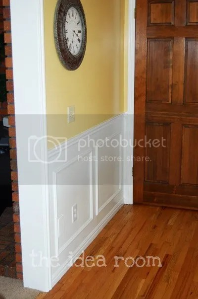 how to put chair rail molding yellow hanging diy faux wainscotting - the idea room
