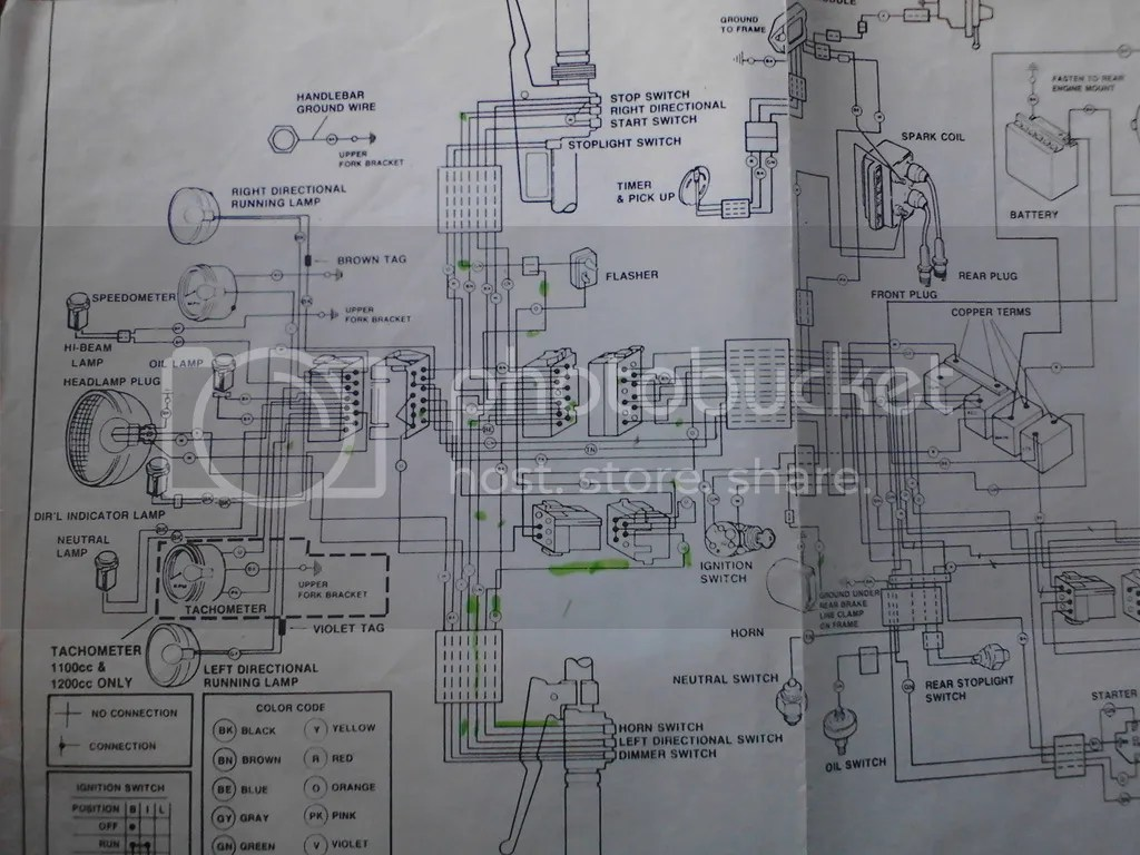 harley davidson tachometer wiring diagram atlas copco parts 2002 softail speedometer noise less tele