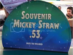 Souvenir Mickey Straw sign