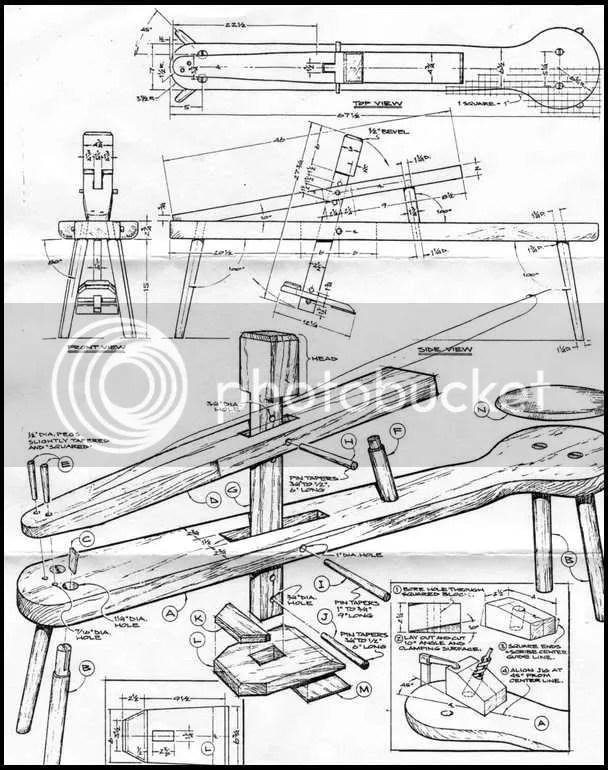 Concrete Bench Diy, Shave Horse Plans, Making A Wood Lathe