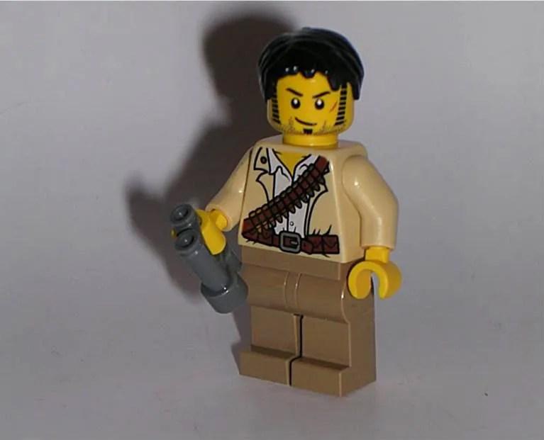 LEGO Minifigure Jack Raines from pharaohs quest Adventurer sets