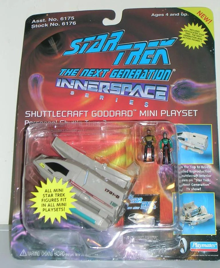Star Trek the Next Generation Micro Machine Shuttlecraft Goddard Mini Playset