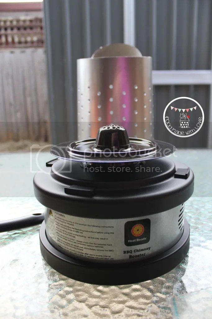 Heat Beads® BBQ Chimney & Chimney Booster