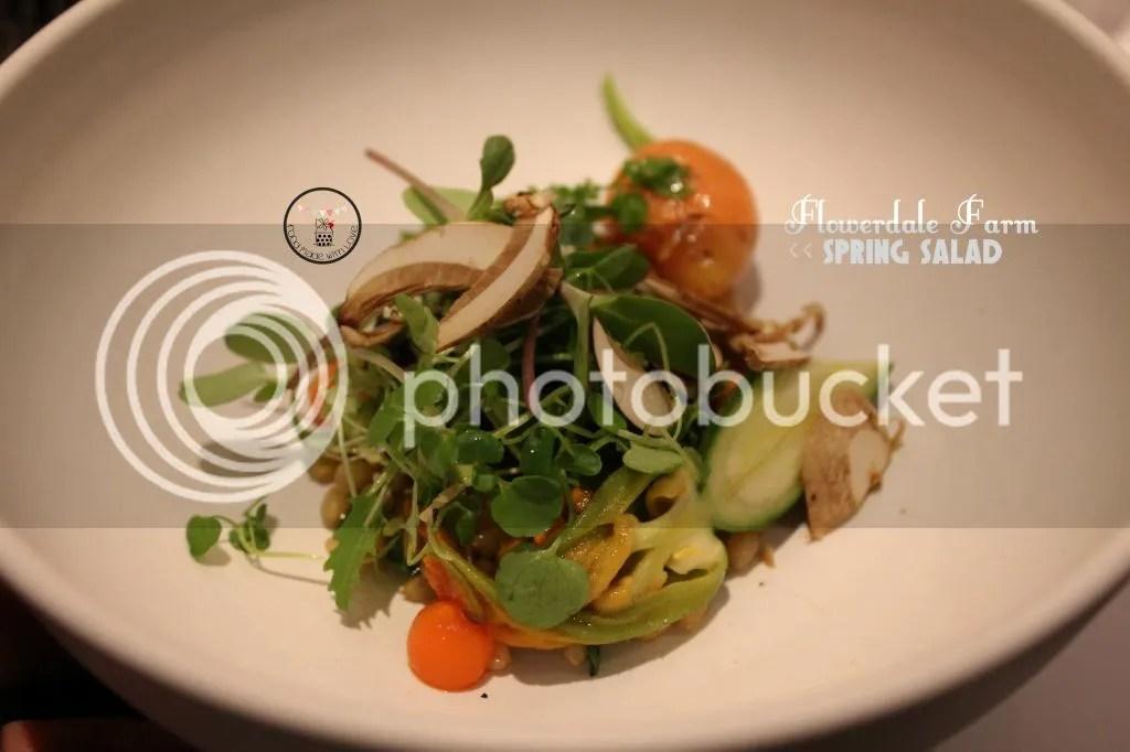 Flowerdale Farm spring salad