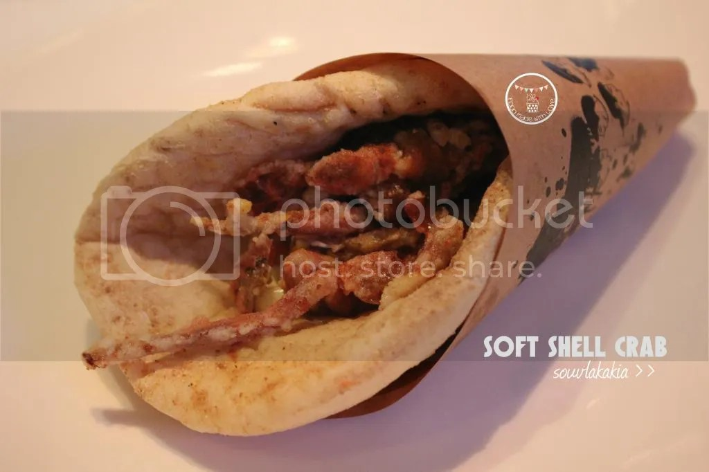 Soft shell crab souvlakakia