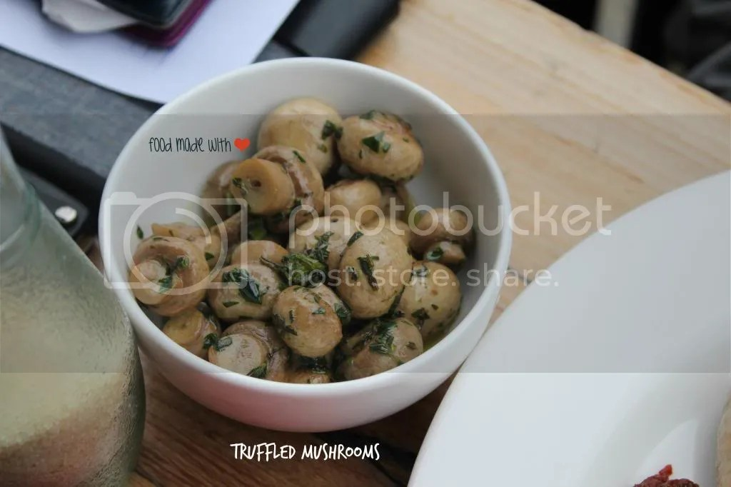 side : truffled mushrooms