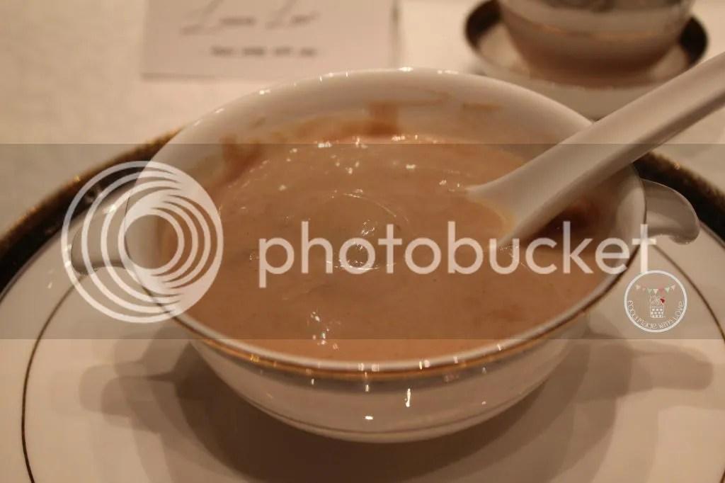 Sweetened walnut soup with glutinous rice ball