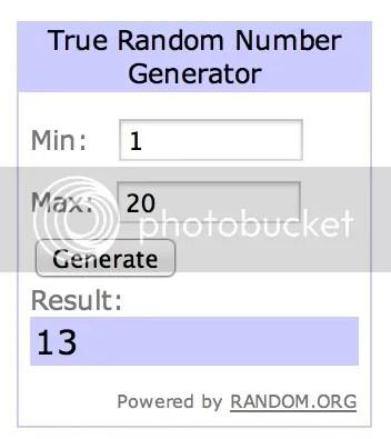 Winner - Number 13