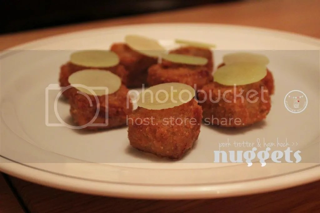 Pig trotter and ham hock nuggets