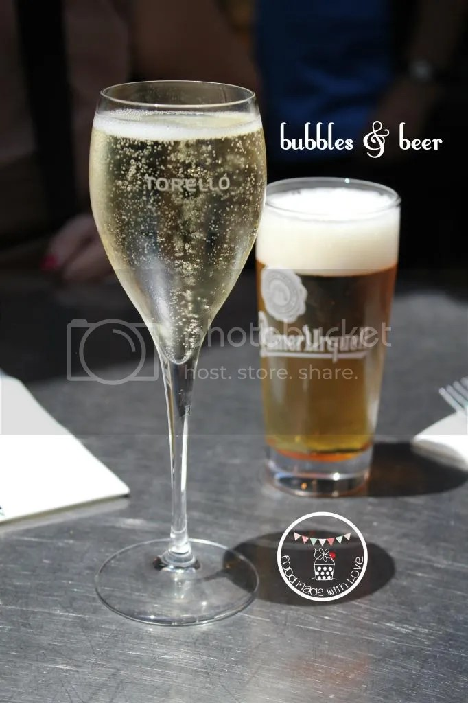 Bubbly and beer