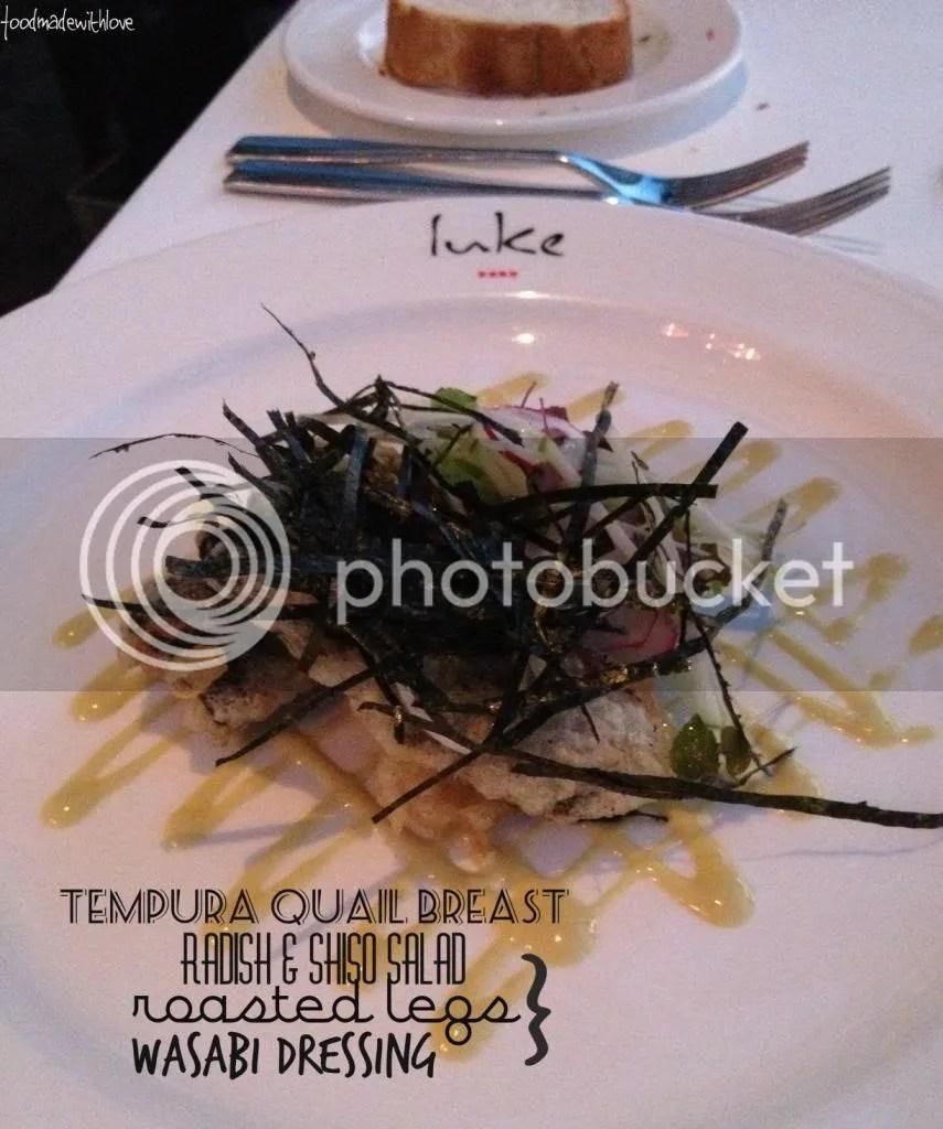 tempura quail breast