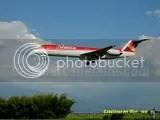 Fockker 100 aterrizando en Medellin, Colombia