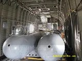 Tanques de combustible en el interior del Mil Mi26 del EP