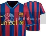 Nike 09/10 FC Barcelona Home and Away Kit