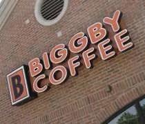 Biggby Coffee in East Lansing near the Frandor Shopping Center.