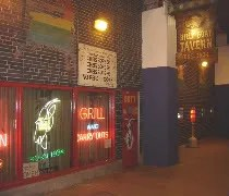 The actual entrance to the Billy Goat Tavern underneath Michigan Avenue in downtown Chicago