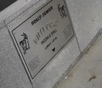 The plaque marking the Billy Goat Tavern for tourists on the Mag Mile