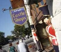 The entrance to Castle Shops in downtown Frankenmuth