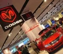 The Dodge display at the North American International Auto Show
