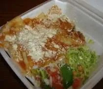An enchilada plate from El Oasis on E. Michgian Avenue in Lansing.