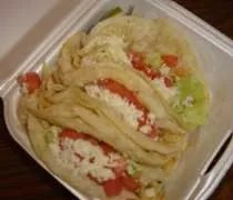 Three chicken tacos from El Oasis inside Tonys Party Store in Lansing.