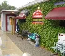 The Get-A-Way Saloon covered in ivy in Bridgman, MI