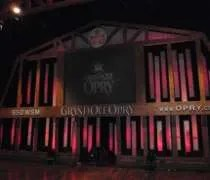 The famous stage at the Grand Ole Opry