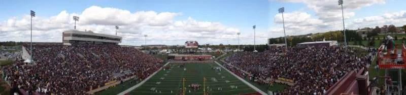 Panoramic view of Kelly/Shorts Stadium at Central Michigan