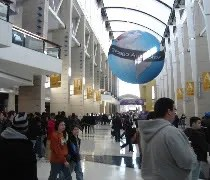 The grand hallway that divides McCormick Place