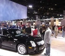 The show floor at McCormick Place for the Chicago Auto Show