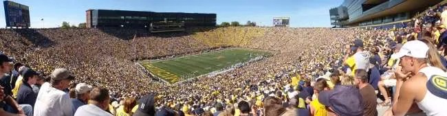 Panoramic view of The Big House
