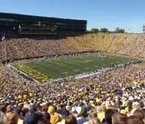 The view from our endzone seats at Michigan Stadium.