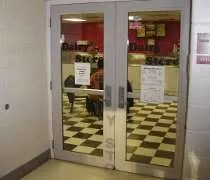 The entrance to the MSU Dairy Store inside Anthony Hall