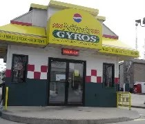 Niros Gyros near the University of Illinois in Urbana
