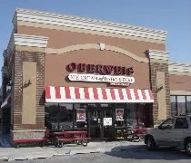 The Oberweis Ice Cream and Dairy store in front of Lowes in Bradley, IL