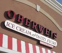 The Oberweis Ice Cream and Dairy Store on Kinzie Avenue in Bradley, IL
