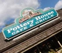 Pottery House Cafe & Grill in the Old Mill District of Pigeon Forge, TN